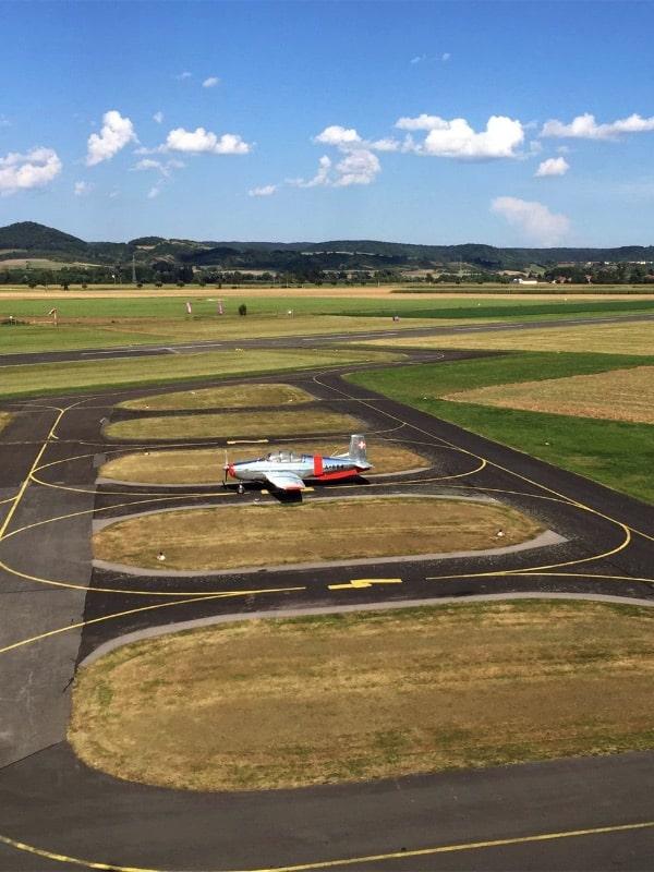 Flughafen Hassfurt Rollfeld