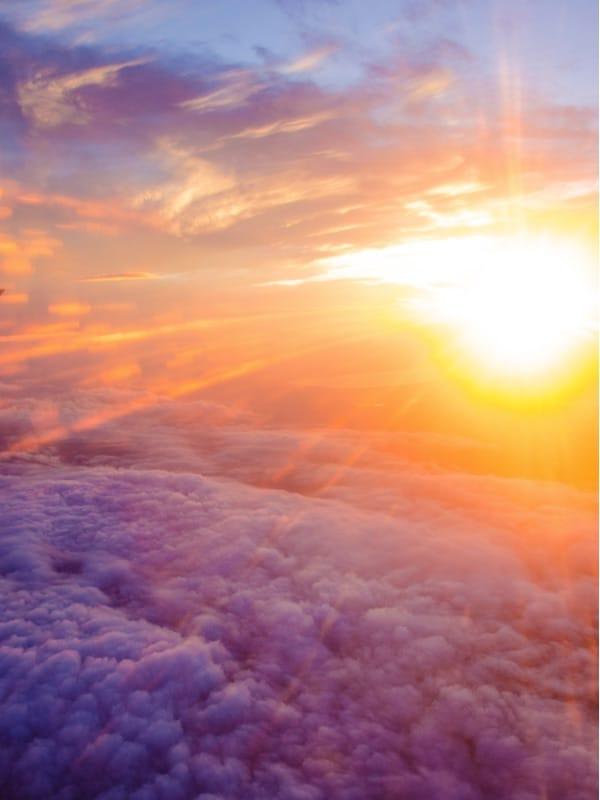 Pilotenschein Flug Sonnenuntergang